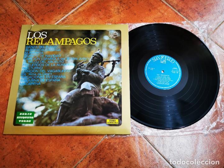 LOS RELAMPAGOS LP VINILO DEL AÑO 1972 ESPAÑA ZAFIRO SERIE ETIQUETA VERDE CONTIENE 12 TEMAS (Música - Discos - LP Vinilo - Solistas Españoles de los 70 a la actualidad)