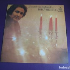 Discos de vinilo: EL MUNDO SIN PALABRAS DE BEBU SILVETTI - LP HISPAVOX 1976 - EASY LISTENING JAZZ POP 70'S - SIN USO. Lote 278413763