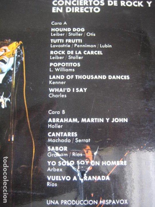 Discos de vinilo: Miguel Ríos – Conciertos De Rock Y Amor En Directo - LP HISPAVOX 1972 - EDICION ORIGINAL SIN APENAS - Foto 3 - 278414778
