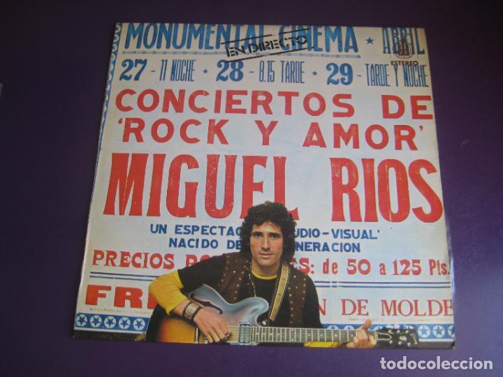 MIGUEL RÍOS – CONCIERTOS DE ROCK Y AMOR EN DIRECTO - LP HISPAVOX 1972 - EDICION ORIGINAL SIN APENAS (Música - Discos - LP Vinilo - Solistas Españoles de los 70 a la actualidad)
