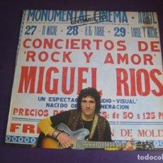Discos de vinilo: MIGUEL RÍOS – CONCIERTOS DE ROCK Y AMOR EN DIRECTO - LP HISPAVOX 1972 - EDICION ORIGINAL SIN APENAS. Lote 278414778
