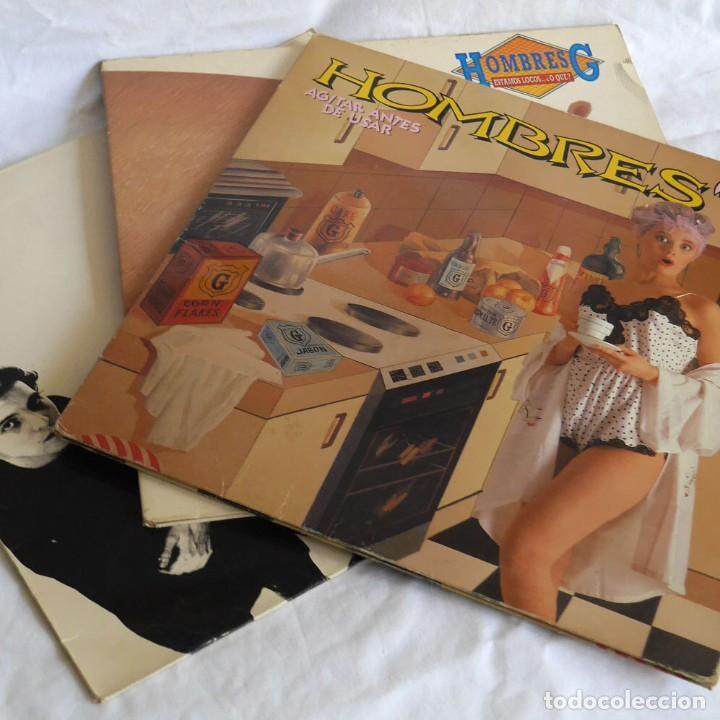 3 LPS VINILO HOMBRE G, AGITAR ANTES DE USAR, ESTAMOS LOCOS O QUE? (Música - Discos - LP Vinilo - Grupos Españoles de los 70 y 80)
