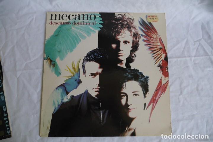 Discos de vinilo: 3 LPs vinilo de Mecano, descanso dominical, entre el cielo y el suelo - Foto 2 - 278416938
