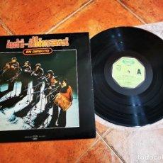 Discos de vinilo: INTI-ILLIMANI EN DIRECTO LP VINILO DEL AÑO 1980 MOVIE PLAY GONG ESPAÑA FOLK CONTIENE 12 TEMAS RARO. Lote 278417093