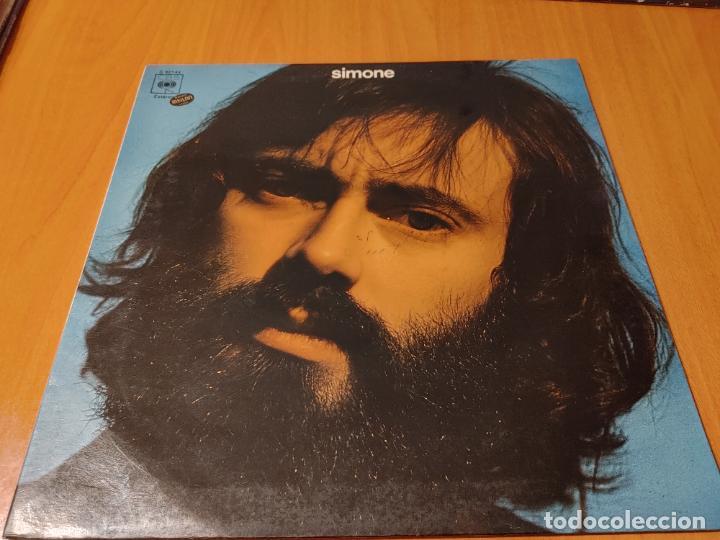 SIMONE (LUIS GÓMEZ ESCOLAR). CBS. SPAIN 1974 LP + DOBLE CUBIERTA (JUAN CARLOS CALDERON) CANTAUTORR (Música - Discos - LP Vinilo - Solistas Españoles de los 70 a la actualidad)