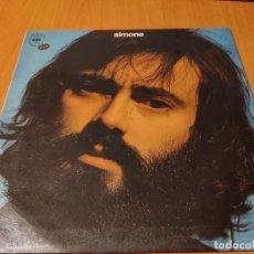 Discos de vinilo: SIMONE (LUIS GÓMEZ ESCOLAR). CBS. SPAIN 1974 LP + DOBLE CUBIERTA (JUAN CARLOS CALDERON) CANTAUTORR. Lote 278426703
