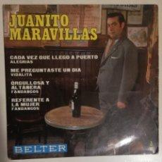 Discos de vinilo: JUANITO MARAVILLAS - CADA VEZ QUE LLEGO A PUERTA. Lote 278428293