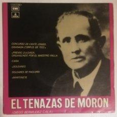 Discos de vinilo: TENAZAS DE MORÓN. Lote 278428778