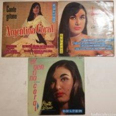 Discos de vinilo: ARGENTINA CORAL (3 EPS). Lote 278429483