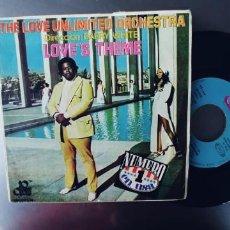 Discos de vinilo: THE LOVE UNLIMITED ORCHESTRA-SINGLE LOVE´S THEME. Lote 278431933