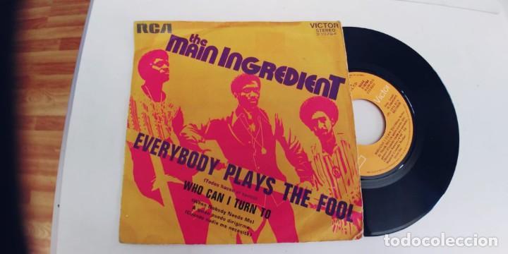 THE MAIN INGREDIENT-SINGLE EVERYBODY PLAYS THE FOOL (Música - Discos - Singles Vinilo - Funk, Soul y Black Music)