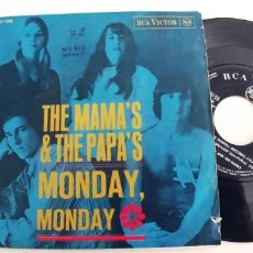 Discos de vinilo: THE MAMAS & THE PAPAS-SINGLE MONDAY MONDAY. Lote 278432308