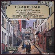 Discos de vinilo: LOS GRANDES COMPOSITORES 73. CÉSAR FRANCK. SINFONÍA EN RE MENOR OP 48. VARIACIONES SINFÓNICAS OP 46. Lote 278434888