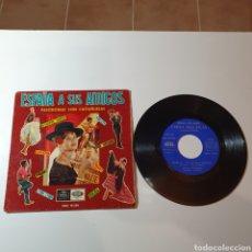 Discos de vinilo: 21-1. ESPAÑA A SUS AMIGOS, PASODOBLES CON CASTAÑUELAS, REGAL 1960, SEDL 19.250.. Lote 278452738