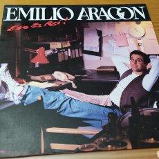"""Discos de vinilo: DISCO VINILO LP EMILIO ARAGON """"ESO ES ASÍ ! """". Lote 278462983"""