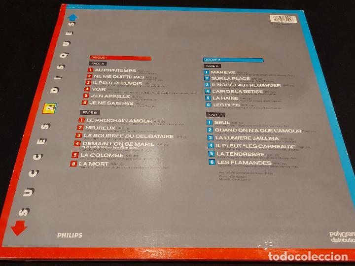 Discos de vinilo: JACQUES BREL / SUCCES 2 DISQUES / DOBLE LP - POLYGRAM DISTRIBUTION-1988 / MBC. ***/*** - Foto 2 - 278464328