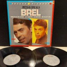 Discos de vinilo: JACQUES BREL / SUCCES 2 DISQUES / DOBLE LP - POLYGRAM DISTRIBUTION-1988 / MBC. ***/***. Lote 278464328