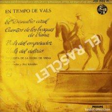 Discos de vinilo: MAGNIFICO SINGLE DE :EN TIEMPO DE VALS -EL DANUBIO AZUL. Lote 278469608