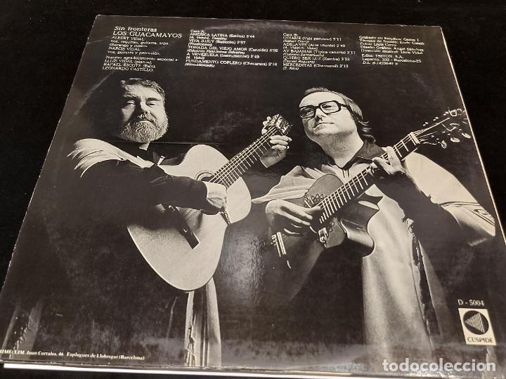 Discos de vinilo: LOS GUACAMAYOS / SIN FRONTERAS / LP - CUSPIDE - 1981 / MBC. ***/*** - Foto 2 - 278469813
