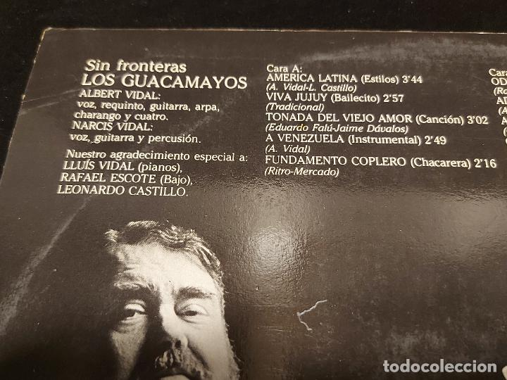 Discos de vinilo: LOS GUACAMAYOS / SIN FRONTERAS / LP - CUSPIDE - 1981 / MBC. ***/*** - Foto 3 - 278469813