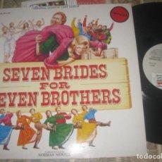 Discos de vinilo: SEVEN BRIDES FOR SEVEN BROTHERS( FIRST NIGHT 1986 DOBLE CARPETA ) EDITADO UK EXCELENTE CONDICION. Lote 278475103