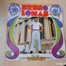 Discos de vinilo: BRUNO LOMAS, SG, EL DÍA + 1, AÑO 1968. Lote 278475533