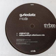 """Discos de vinilo: G.RIEDATZ - MODE (12"""")). Lote 278472593"""