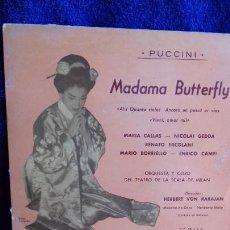 Discos de vinilo: MARIA CALLAS MADAME BUTTERFLY EP 4 CANCIONES. Lote 278482318
