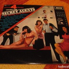 Discos de vinilo: SECRET AGENTS LP ROLAND SHAW JAMES BOND FLINT LOS VENGADORES EL SANTO MAN FROM U.N.C.L.E. 1966. Lote 278483858