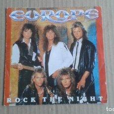 Discos de vinilo: EUROPE - ROCK THE NIGHT SINGLE 1986 EDICION ESPAÑOLA. Lote 278486668