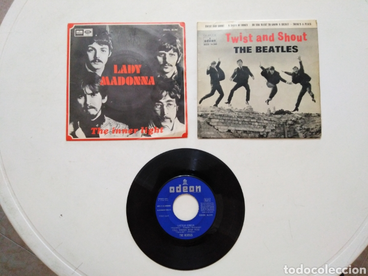 LOTE DE 3 VINILOS THE BEATLES ( LEER DESCRIPCIÓN ) (Música - Discos de Vinilo - EPs - Rock & Roll)