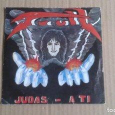 Discos de vinilo: TRULL - JUDAS SINGLE 1987 (DISCO DEFECTUOSO ). Lote 278487473