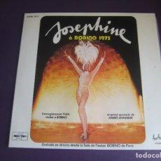 Discos de vinilo: JOSEPHINE BAKER A BOBINO 1975 - DOBLE LP FESTIVAL 1975 - CABARET - MUSIC HALL - JAZZ BLUES - SIN USO. Lote 278490038