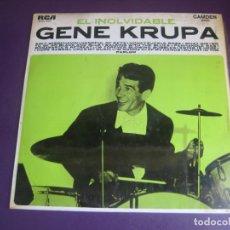 Discos de vinilo: EL INOLVIDABLE GENE KRUPA - LP RCA 1968 - JAZZ CLASICO - VINILO SIN APENAS USO, PORTADA ROZADA. Lote 278491173
