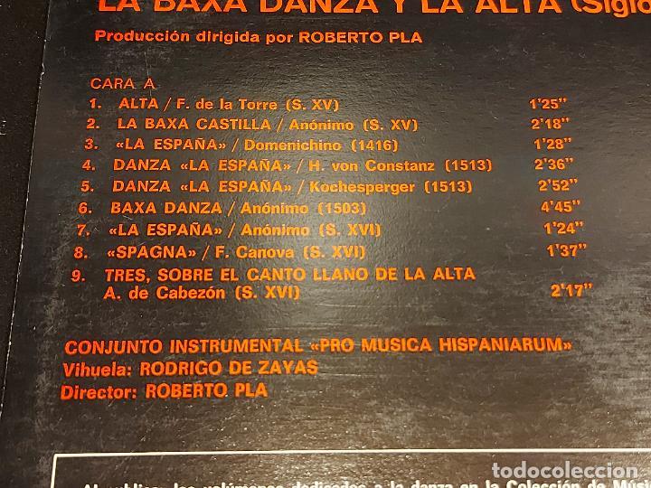 Discos de vinilo: LA BAXA DANZA Y LA ALTA / MÚSICA ANTIGUA ESPAÑOLA / LP-GATEFOLD-HISPAVOX-1975 / MBC. ***/*** INSERTO - Foto 5 - 278498118