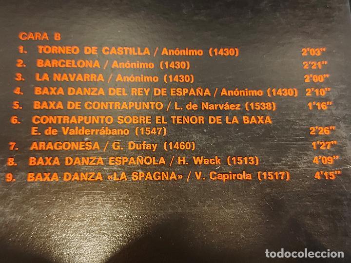 Discos de vinilo: LA BAXA DANZA Y LA ALTA / MÚSICA ANTIGUA ESPAÑOLA / LP-GATEFOLD-HISPAVOX-1975 / MBC. ***/*** INSERTO - Foto 6 - 278498118