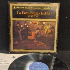 Discos de vinilo: LA BAXA DANZA Y L ALTA / MÚSICA ANTIGUA ESPAÑOLA / LP-GATEFOLD-HISPAVOX-1975 / MBC. ***/*** INSERTO. Lote 278498118