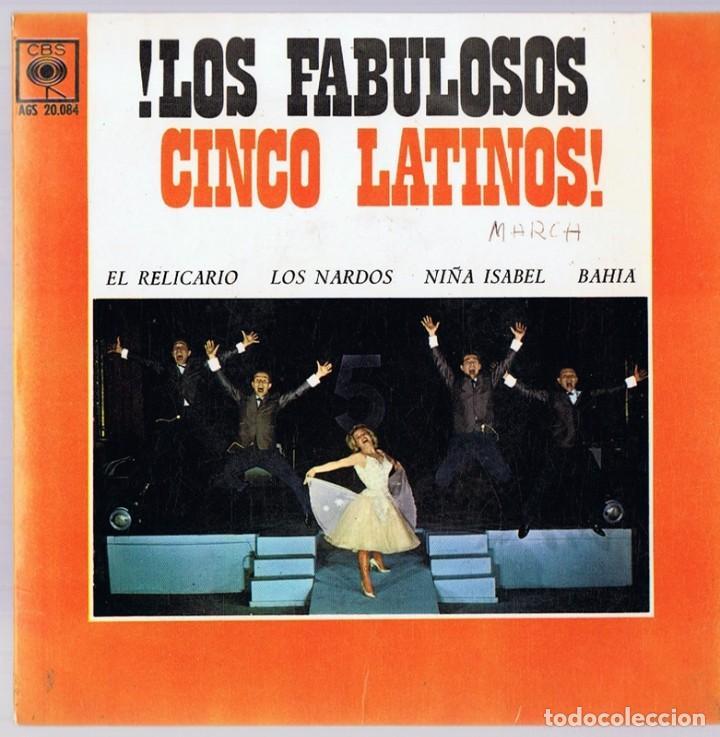 ¡LOS FABULOSOS CINCO LATINOS! ¨EL RELICARIO¨ (Música - Discos de Vinilo - EPs - Grupos y Solistas de latinoamérica)