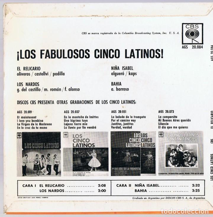 Discos de vinilo: ¡LOS FABULOSOS CINCO LATINOS! ¨EL RELICARIO¨ - Foto 2 - 278500163