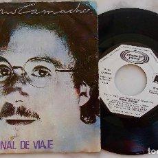 Discos de vinilo: HILARIO CAMACHO. FINAL DEL VIAJE. SINGLE PROMOCIONAL ESPAÑA 1981. LABEL BLANCO. Lote 278501433