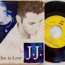 Discos de vinilo: J.J. IF THIS IS LOVE. SINGLE PROMOCIONAL ESPAÑA 1991 GRABADO POR UNA SOLA CARA. Lote 278502338