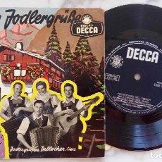 Discos de vinilo: CANCIONES DEL TIROL. GRUPO DE JODLER DE FRANZ DELLACHER.LIENZ.ACOMPAÑAMIENTO INSTRUMENTAL. EP ESPAÑA. Lote 278506383