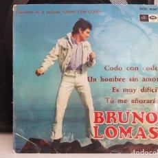 Discos de vinilo: *BRUNO LOMAS - CODO CON CODO / ES MUY DIFICIL + 2 - EP AÑO 1967 - LEER DESCRIPCIÓN. Lote 278506908