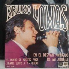 Discos de vinilo: *BRUNO LOMAS - EN EL DESVÁN ANTIGUO DE MI ABUELA / QUIERO + 2 - EP AÑO 1967 - LEER DESCRIPCIÓN. Lote 278507428