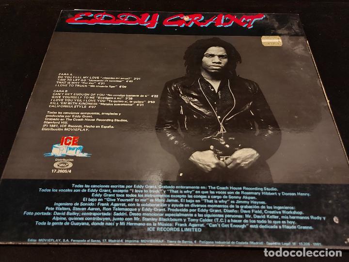 Discos de vinilo: EDDY GRANT / NO CONSIGO BASTANTE DE TI / LP-ICE-SPAIN-1981 / MBC. ***/*** - Foto 2 - 278515823