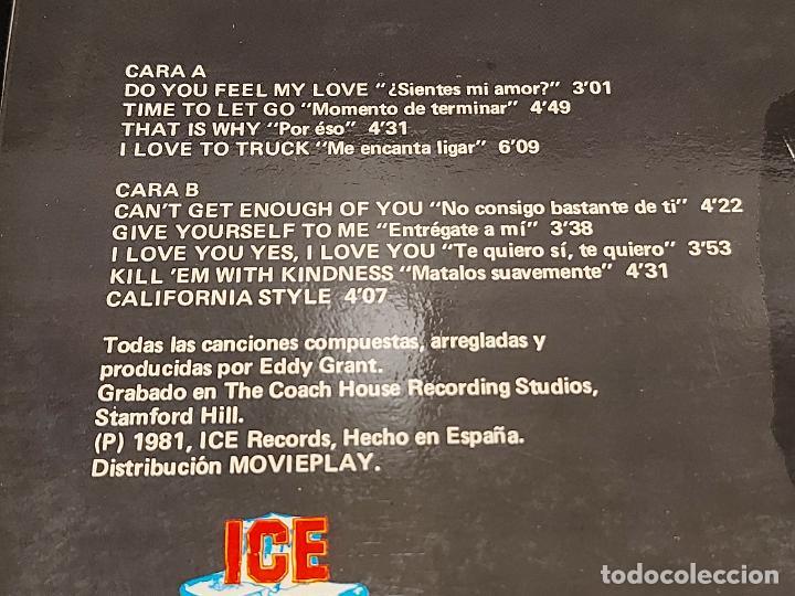 Discos de vinilo: EDDY GRANT / NO CONSIGO BASTANTE DE TI / LP-ICE-SPAIN-1981 / MBC. ***/*** - Foto 3 - 278515823
