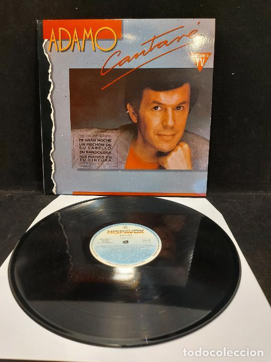 ADAMO / CANTARÉ / LP - HISPAVOX-1990 / MBC. ***/*** (Música - Discos - LP Vinilo - Canción Francesa e Italiana)
