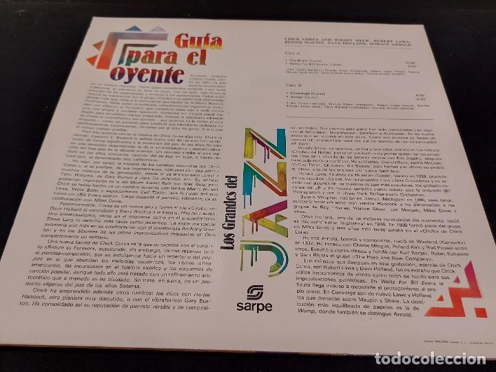 Discos de vinilo: LOS GRANDES DEL JAZZ / 3 / CHICK COREA / LP-SARPE-1980 / MBC. ***/*** - Foto 2 - 278517528
