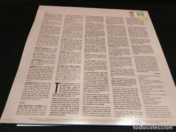 Discos de vinilo: BENNY GOODMAN / VOL III / ALL THE CATS JOIN IN / LP - CBS-JAZZ-1988 / MBC. ***/*** INSERTO. - Foto 2 - 278518143