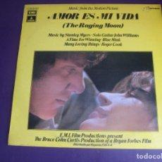 Discos de vinilo: AMOR ES MI VIDA (THE RAGING MOON) - LP ODEON 1971 - BSO CINE - JOHN WILLIAMS - STANLEY MYERS - JAZZ. Lote 278522058